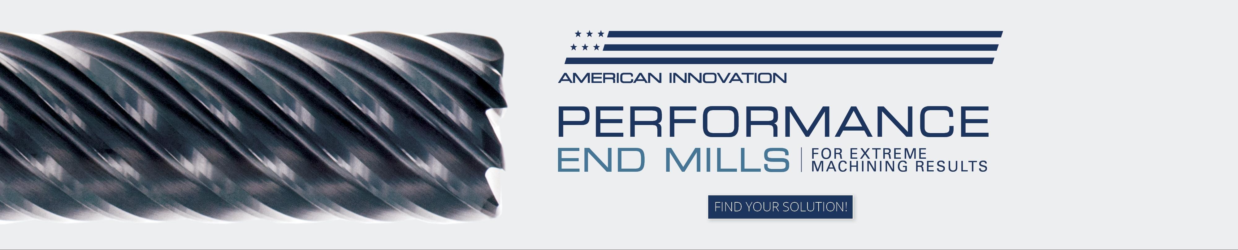Performance End Mills Banner